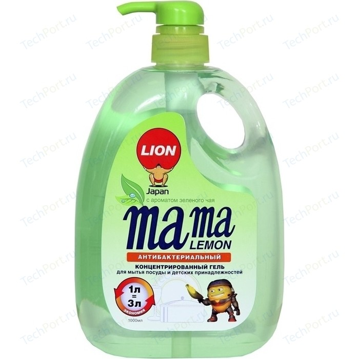 Концентрированный гель для мытья посуды Mama Lemon Зеленый чай (Green Tea Fragrance), 1 л
