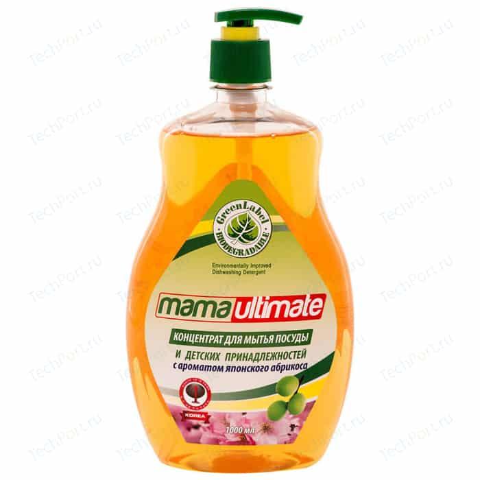 Концентрат для мытья посуды Mama Ultimate Японский Абрикос, бутылка, 1 л