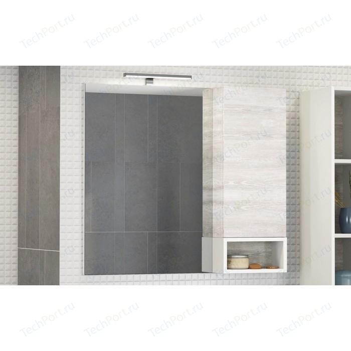 Зеркало-шкаф Comforty Прага 90 дуб белый правый (00004136263)
