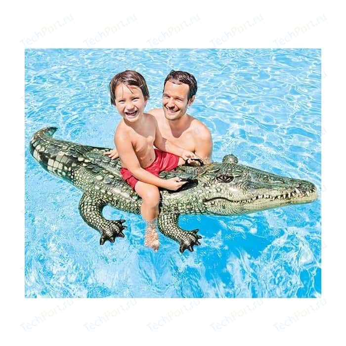 Надувная игрушка Intex Настоящий крокодил RIDE-ON от 3 лет 170*86см И57551