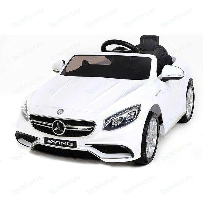 Детский электромобиль Harleybella Mercedes Benz S63 LUXURY 2.4G - White HL169-LUX-W