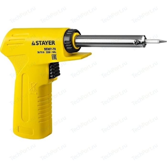 Электропаяльник Stayer Master MAXTerm 30-70Вт конус (55307-70)