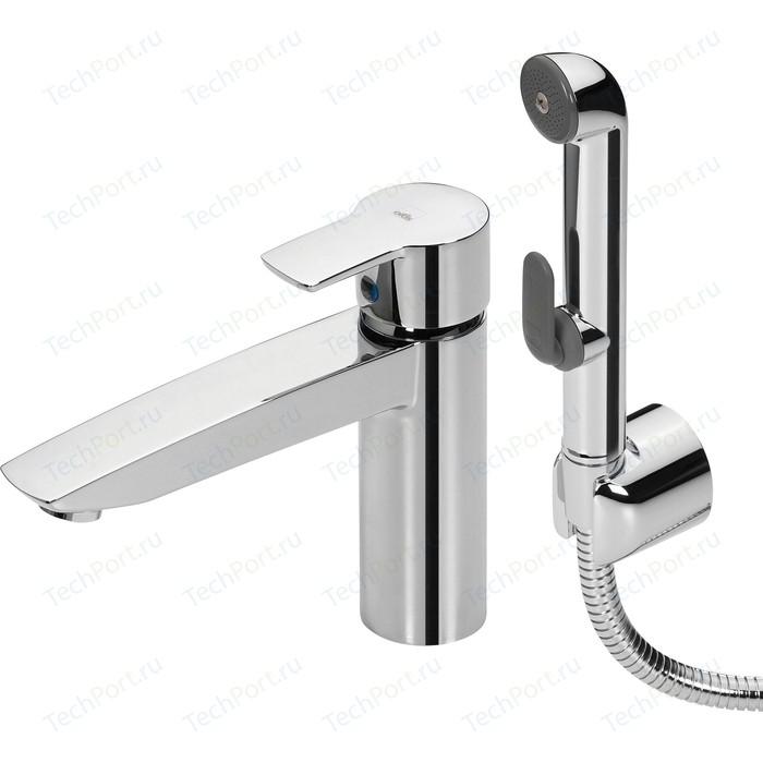Смеситель для раковины Oras Cubista с гигиеническим душем (2806)