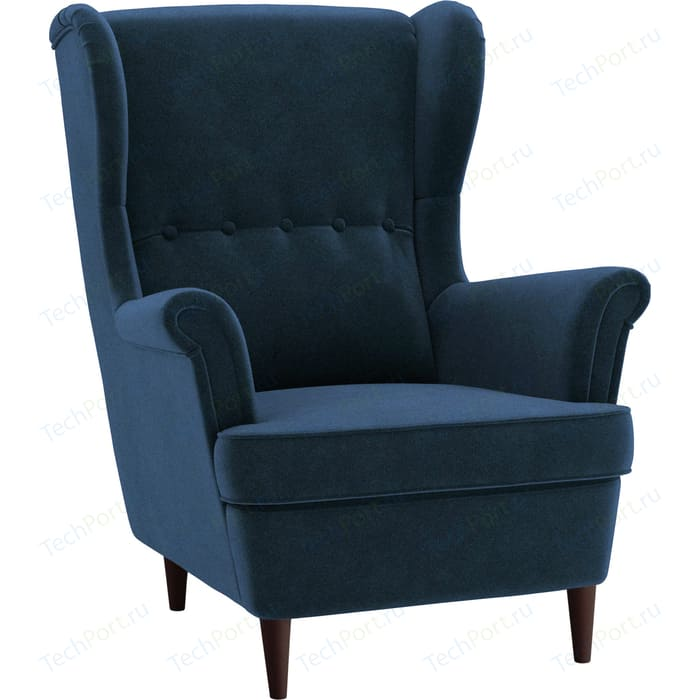Кресло Вилора Лондон ножки бук (венге), обивка велюр Beauty 07