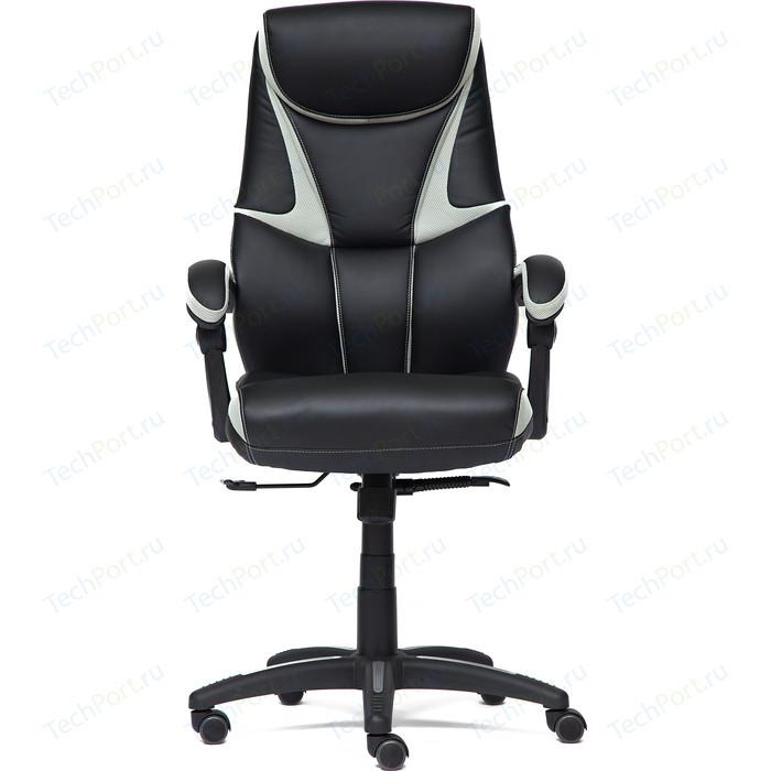 Кресло TetChair CAMBRIDGE кож/зам/ткань черный/светло-серый 36-6/14 кресло tetchair runner кож зам ткань черный зеленый 36 6 26 12