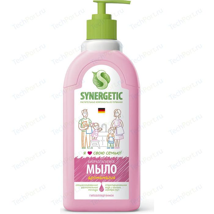 Жидкое мыло Synergetic Аромамагия, с дозатором 500 мл мыло жидкое lv 500 мл с дозатором