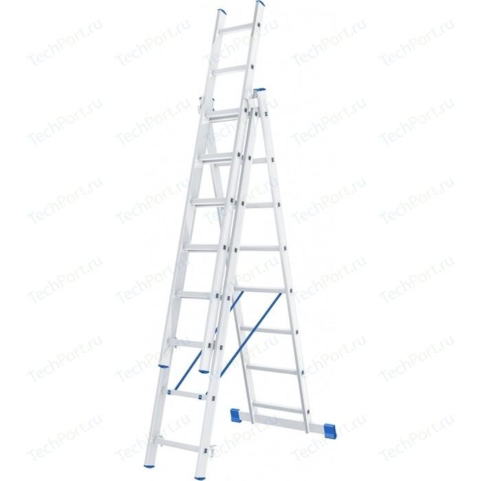 Лестница трехсекционная СибрТех 8 ступеней (97818)