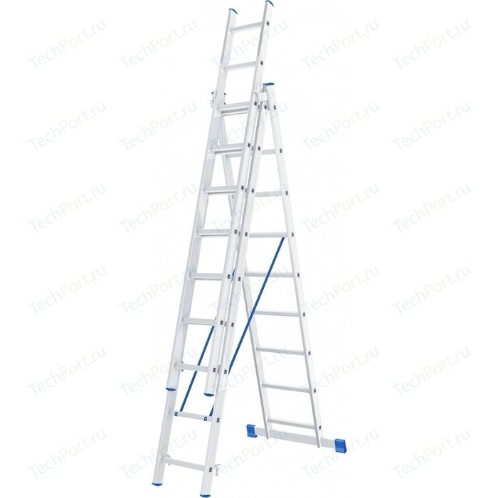 Лестница трехсекционная СибрТех 9 ступеней (97819)