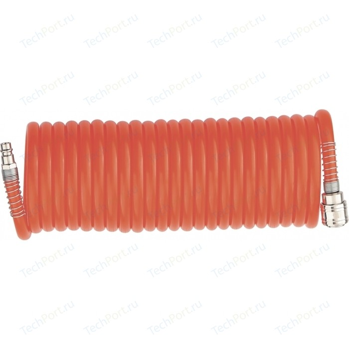 Шланг спиральный Stels воздушный 8х12мм 15м (57019) шланг спиральный fubag 6х8мм 15м 10бар с фитингами 170025