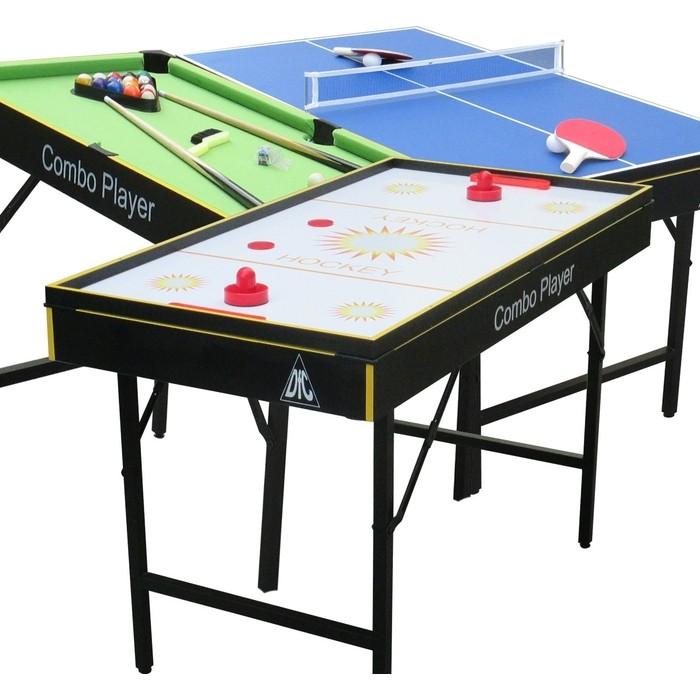 Игровой стол - трансформер DFC SMILE 3 в 1 (аэрохоккей, теннис, бильярд)
