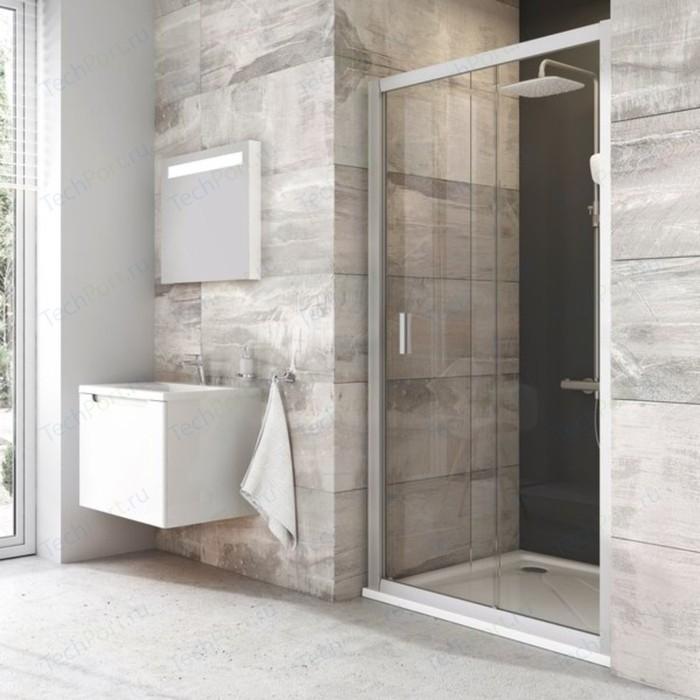 Душевая дверь Ravak Blix BLDP2 100 прозрачная, сатин (0PVA0U00Z1)