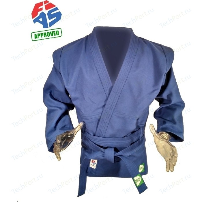 Куртка для самбо GREEN HILL JS-303-52-BL, р. 52/180 одобрено FIAS (Международной федерацией самбо)