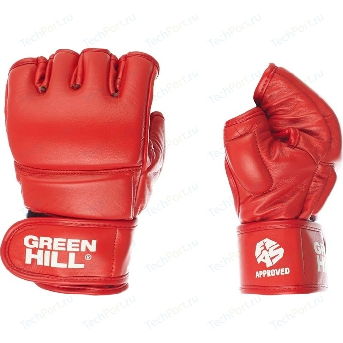 Перчатки GREEN HILL для боевого самбо MMF-0026a-S-RD, р. S одобрен FIAS