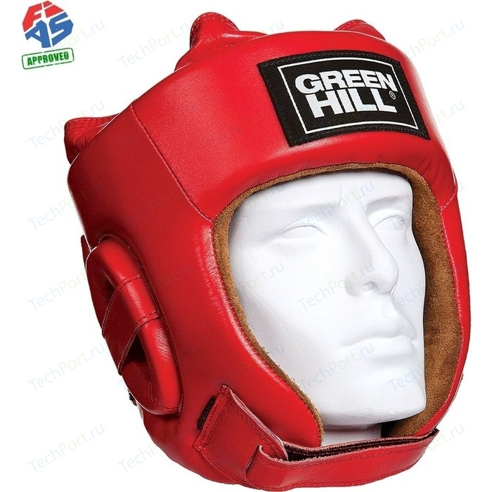 Шлем GREEN HILL FIVE STAR HGF-4013-L-RD, р. L, одобр. FIAS, нат. кожа, красный
