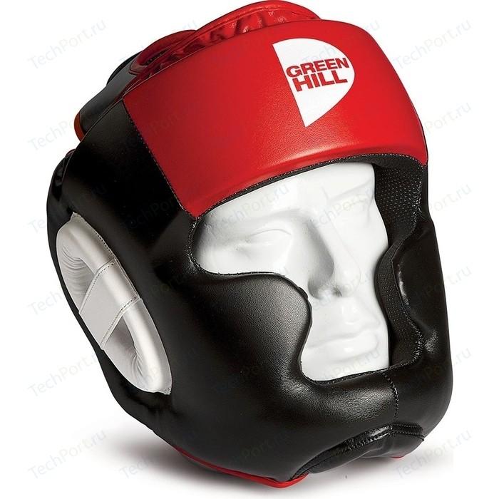 Шлем GREEN HILL POISE HGP-9015-XL-RD, р. XL, иск. кожа ПУ, черно-красный