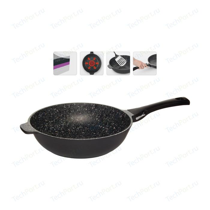 Сковорода со съемной ручкой Nadoba d 28см Pavla (729015) сковорода d 24 см kukmara кофейный мрамор смки240а