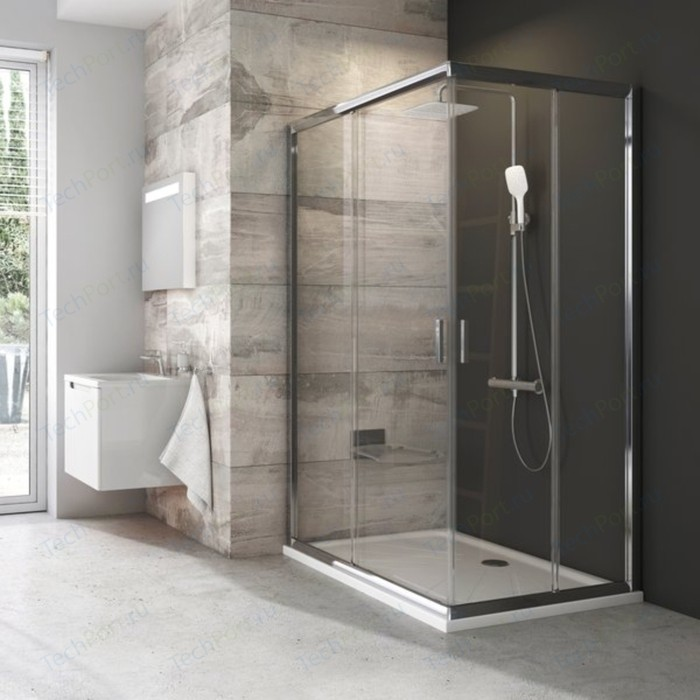 Дверь душевого уголка Ravak Blix BLRV2K 90x190 см, стекло прозрачное, профиль сатин (1XV70U00Z1)