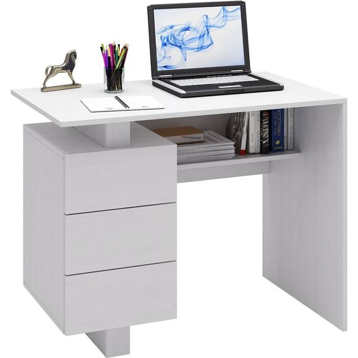 Стол письменный Мастер Ренцо-1 (белый) МСТ-СРЕ-01-БТ-16