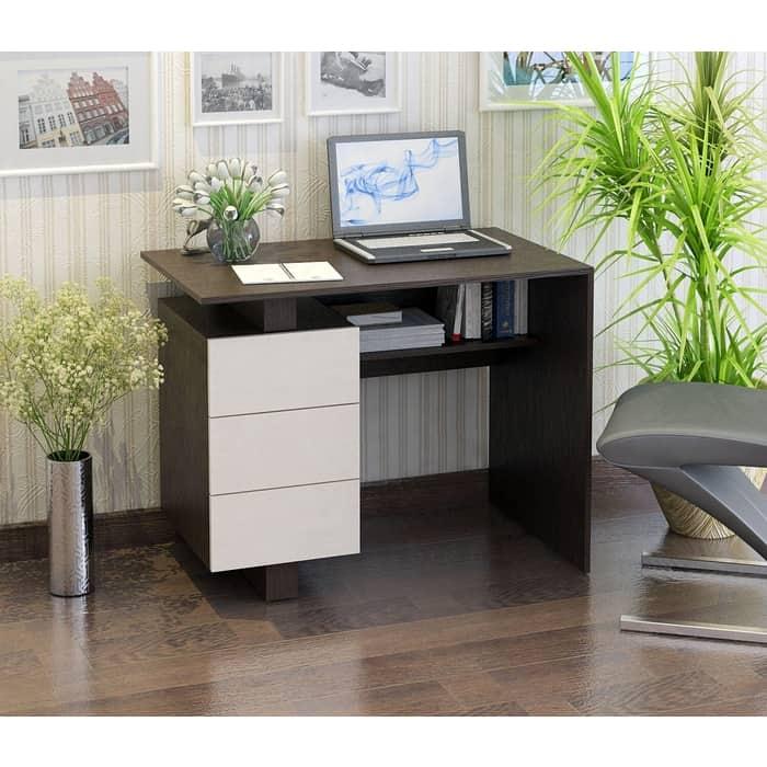 Стол письменный Мастер Ренцо-1 (венге-дуб молочный) МСТ-СРЕ-01-ВД-16