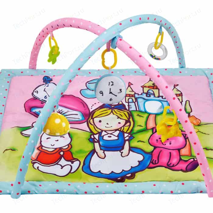 Развивающий коврик Жирафики Алиса и волшебный замок с 4-мя развивающими игрушками, шуршалкой зеркальцем (939352)