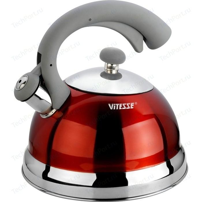 Чайник со свистком 2.5 л Vitesse Lishan (VS-1116 Красный)