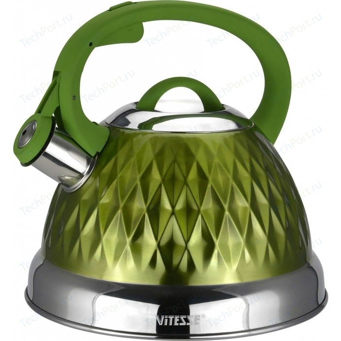 Чайник со свистком 2.6 л Vitesse (VS-1122 Зеленый)