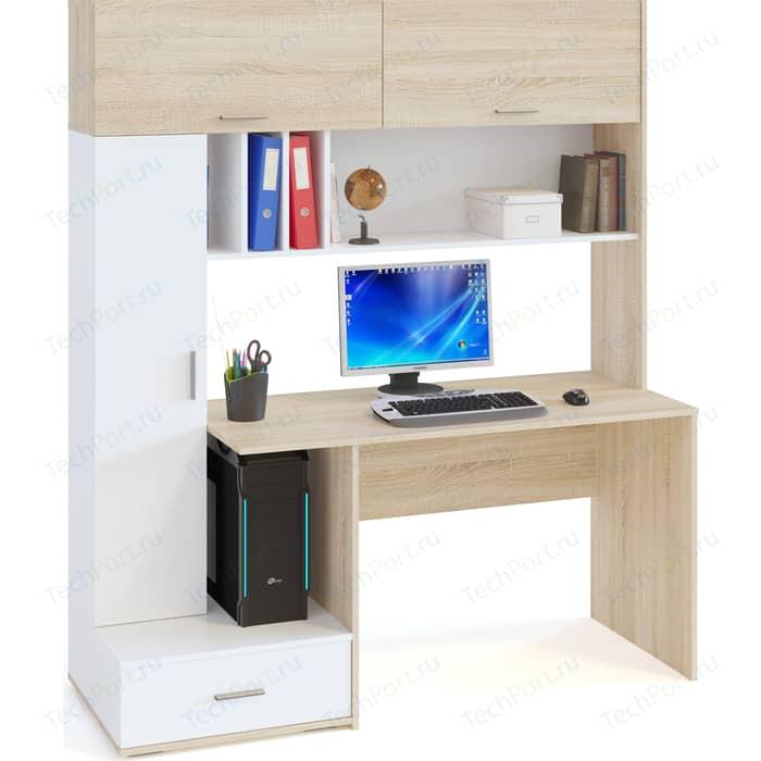 Компьютерный стол СОКОЛ КСТ-17 Дуб сонома/Белый