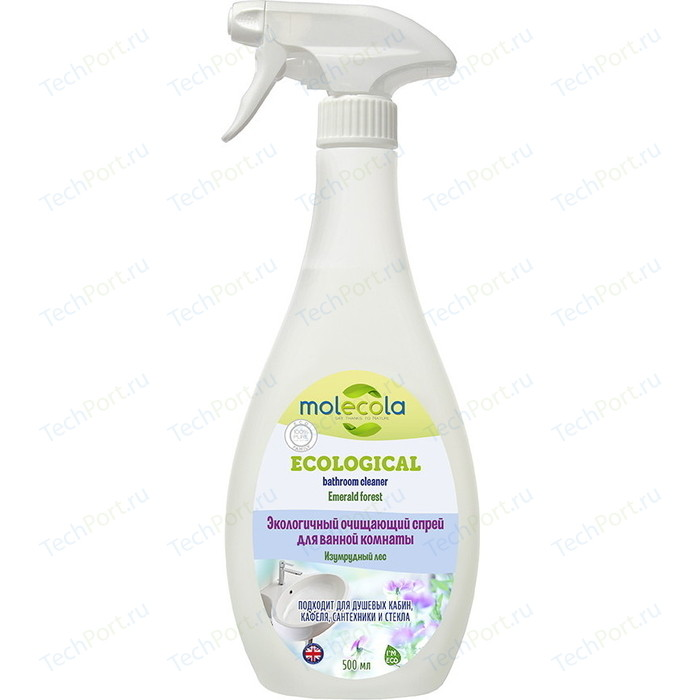Очищающий спрей Molecola для ванной комнаты Изумрудный лес Emerald Forest, экологичный, 500 мл