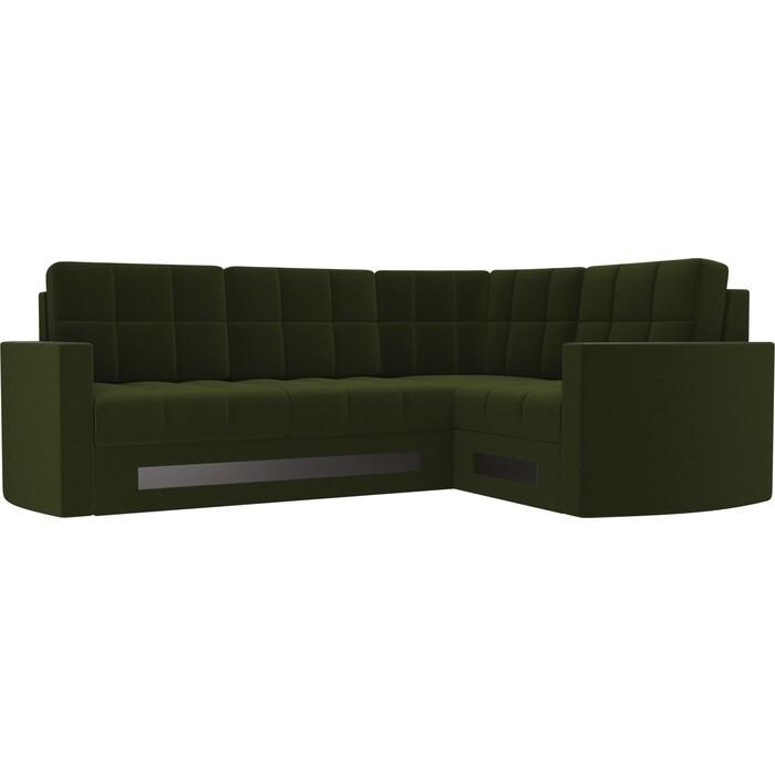 Диван угловой Мебелико Белла У микровельвет зеленый правый диван угловой мебелико белла у микровельвет коричневый правый