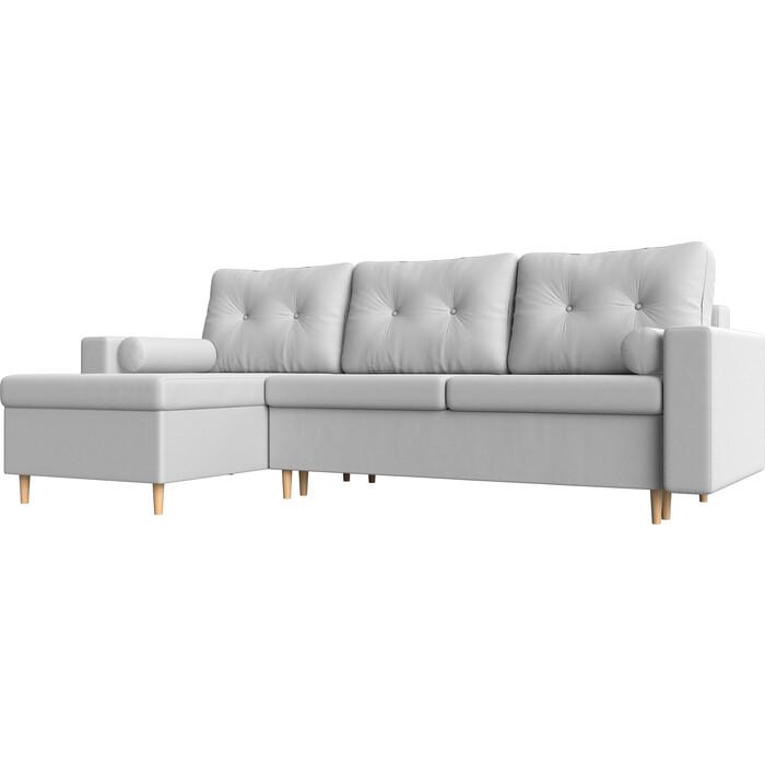 Угловой диван Мебелико Белфаст эко-кожа белый левый угол угловой диван мебелико валенсия эко кожа белый левый угол