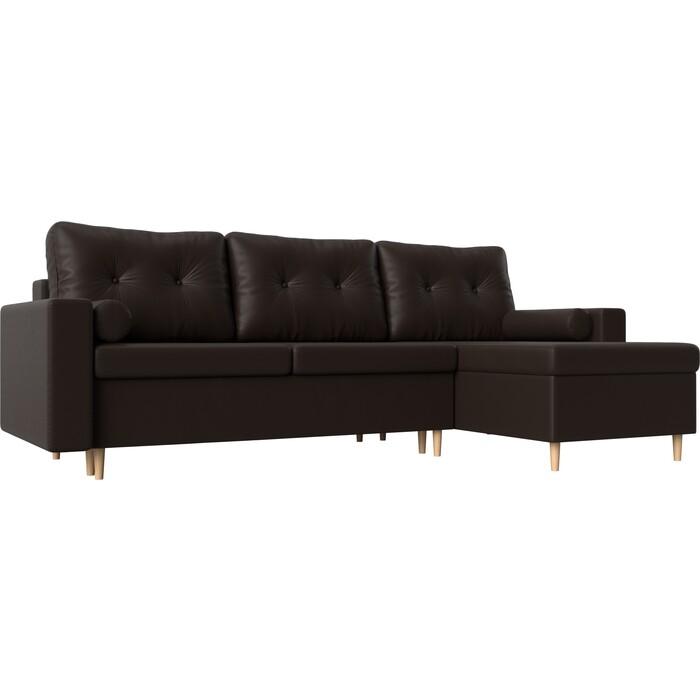 Угловой диван Мебелико Белфаст эко-кожа коричневый правый угол угловой диван мебелико панда эко кожа коричневый правый