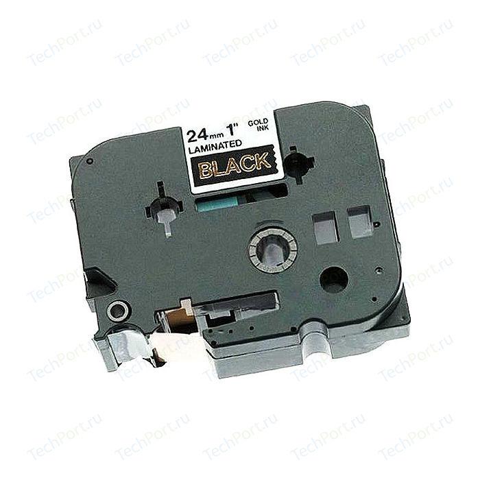 TZE354 Brother Лента 24мм золотой на черном для PT-2xxx, PT-3xxx, PT-5xxx, PT-9xxx (TZE354)
