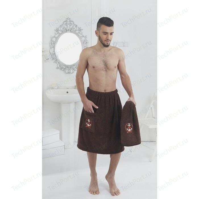 Набор для сауны мужской Karna Pamir коричневый (2608 / CHAR002)
