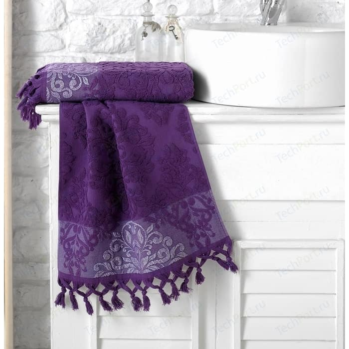Полотенце Karna Ottoman жаккард 70x140 см фиолетовый (1088 / CHAR013)