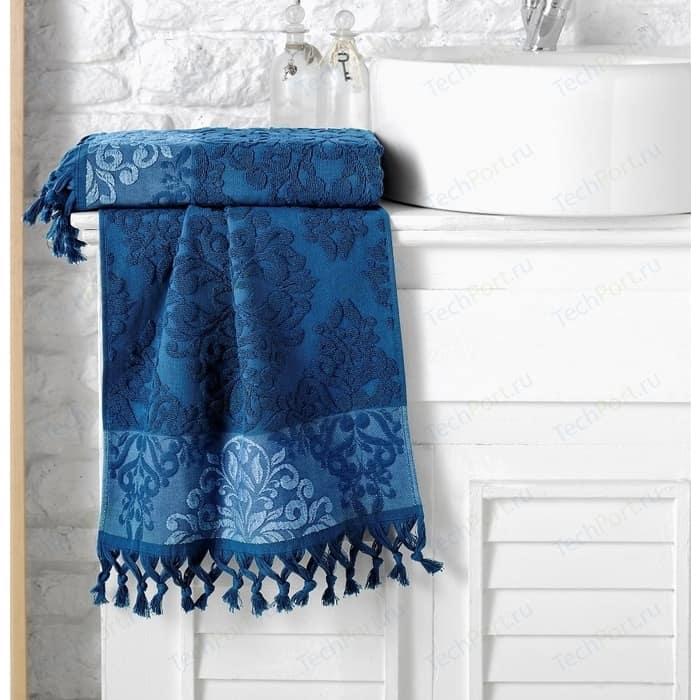 Полотенце Karna Ottoman жаккард 70x140 см синий (1088 / CHAR011)