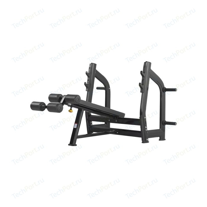 Cкамья для жима Bronze Gym H-024 (черный) с отрицательным наклоном