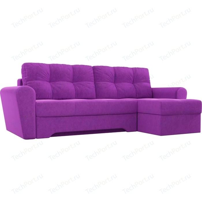 Диван угловой Мебелико Амстердам микровельвет фиолетовый правый угол диван угловой мебелико амстердам микровельвет красный правый угол