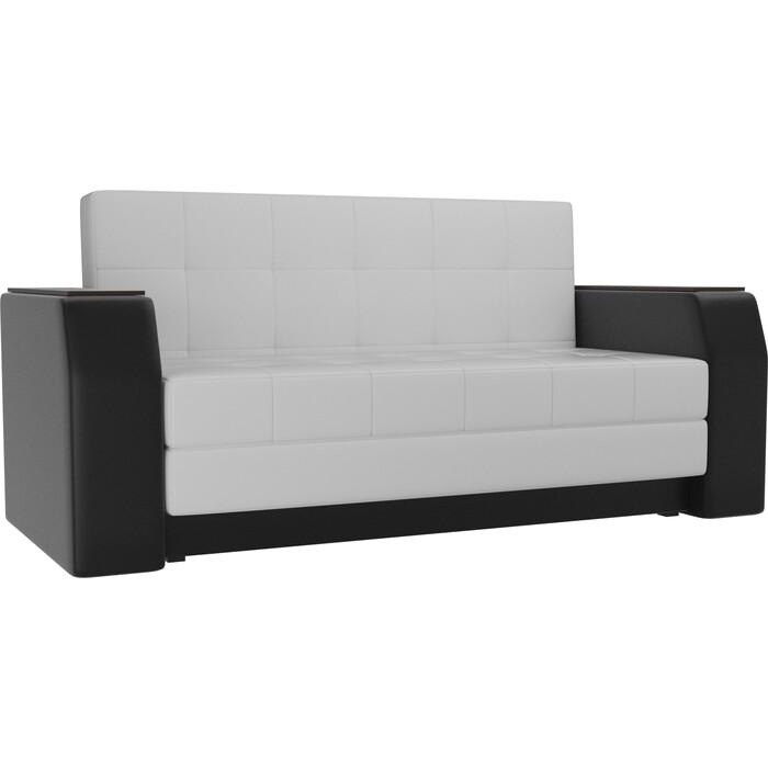 Фото - Диван прямой АртМебель Атлант мини эко-кожа белый/черный кухонный прямой диван артмебель стоун эко кожа черный белый