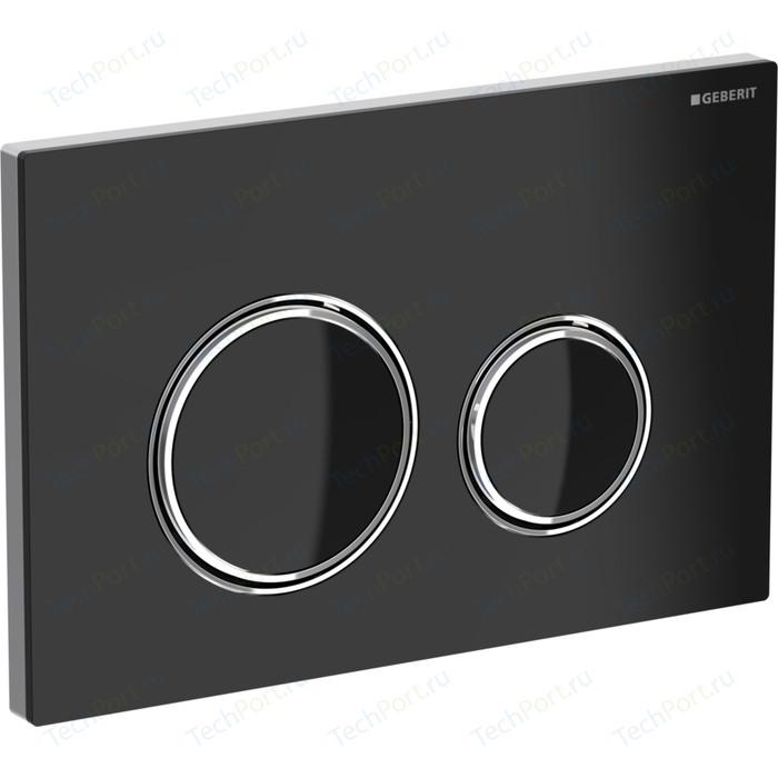 Кнопка смыва Geberit Sigma 21 стекло, черная/хром (115.884.SJ.1) кнопка смыва geberit 115 884 sj 1 sigma 21 стекло черное глянцевый хром