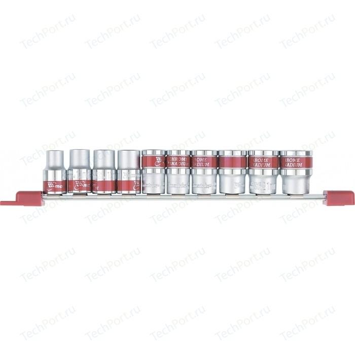 Набор торцевых головок Matrix 1/2 10-22 мм 10шт CrV (13557)