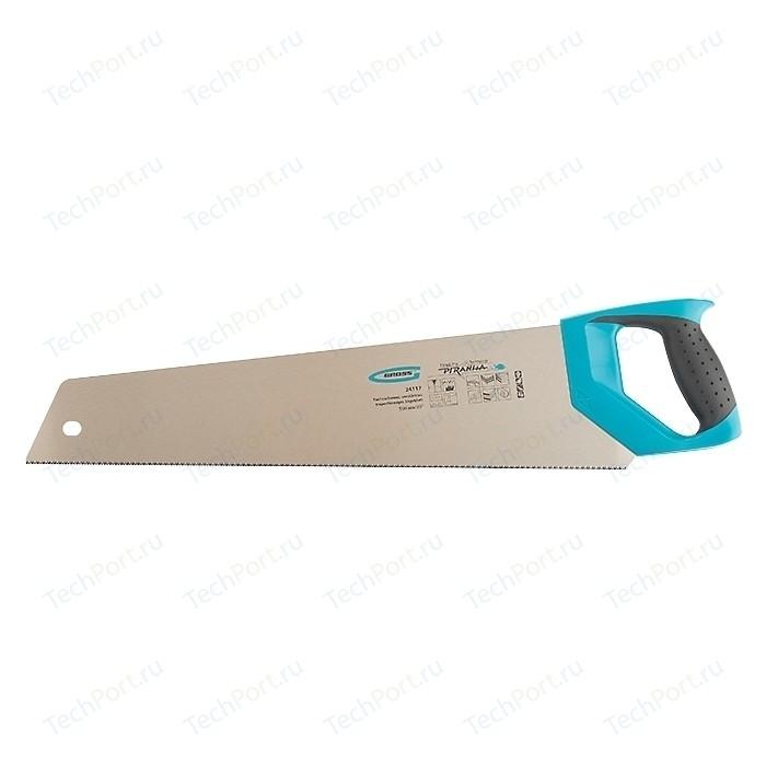 Ножовка GROSS 500 мм 11-12TPI зуб 3D Piranha (24117)