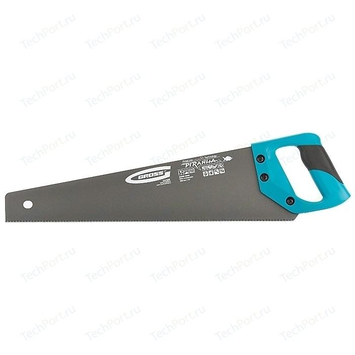 Ножовка GROSS 450 мм 11-12 TPI кал. 3D - зуб Piranha (24106)