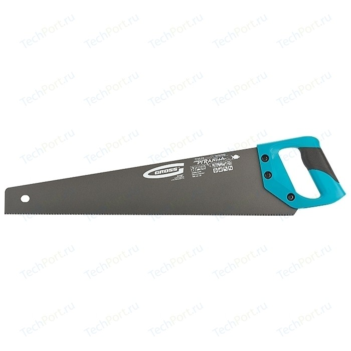 Ножовка GROSS 500 мм 11-12 TPI кал. 3D - зуб Piranha (24107)