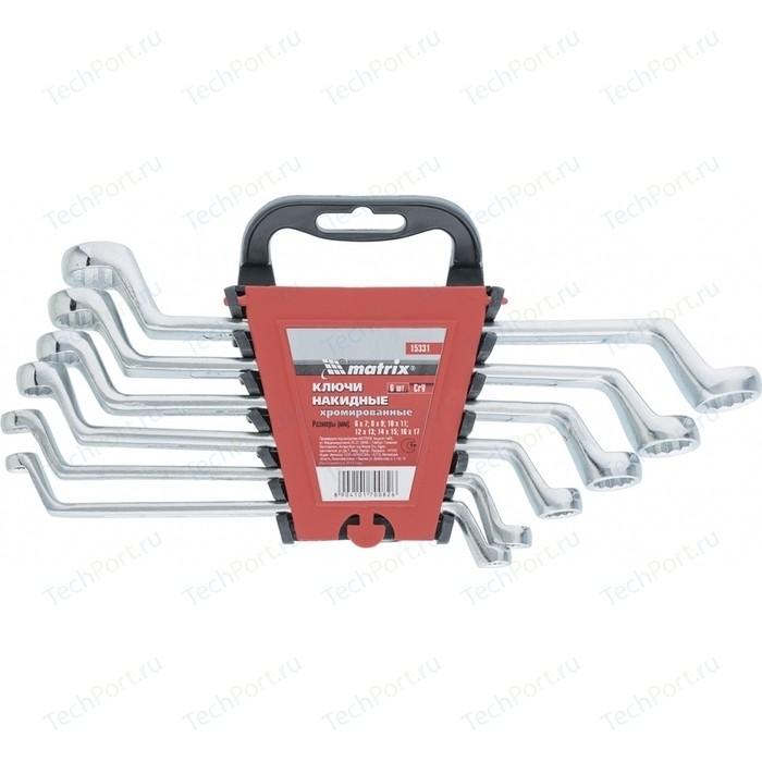 Набор ключей накидных Matrix 6-17 мм 6шт CR-V (15331)