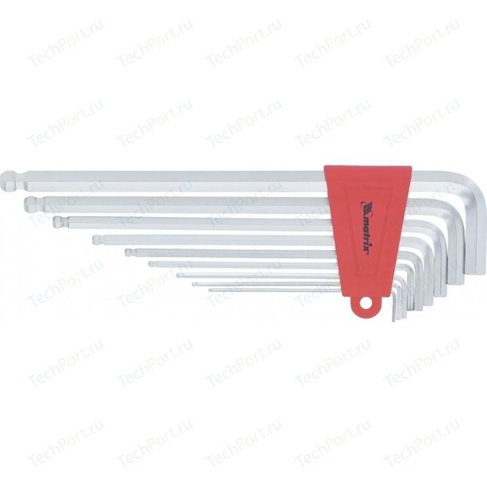 Набор ключей имбусовых Matrix HEX 1 5-10 мм CrV 9 шт. (16410)