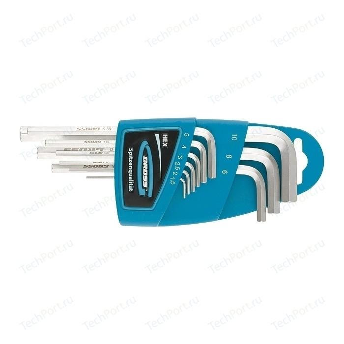 Набор ключей имбусовых GROSS HEX 1.5-10 мм 9шт S2 (16404)