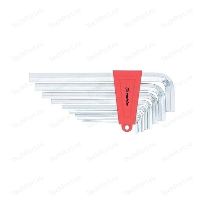Набор ключей имбусовых Matrix HEX 2-12 мм 9шт CrV (12302)