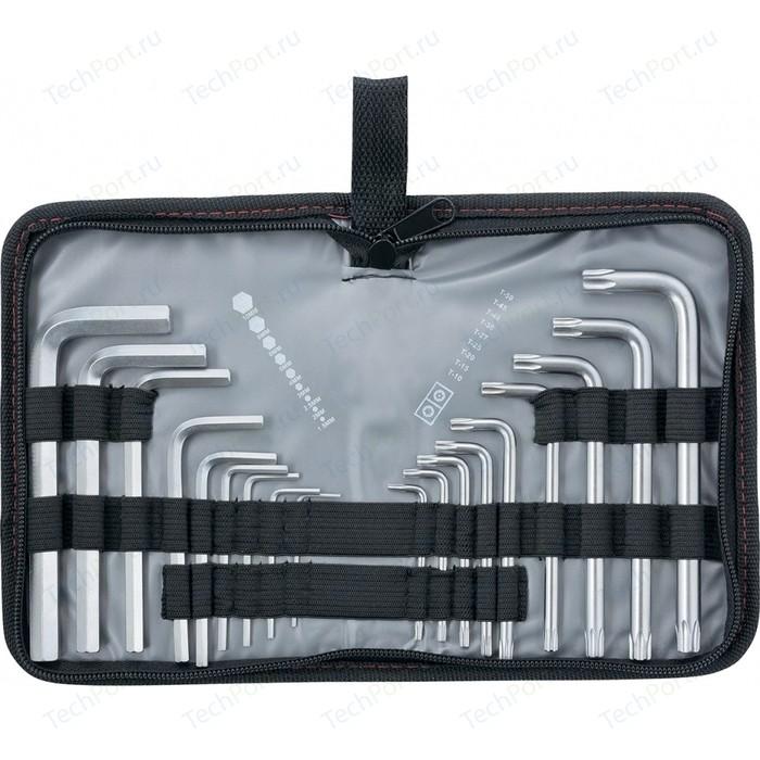Набор ключей имбусовых Matrix HEX-TORX 18шт: HEX 1.5-10 мм, T10-T50 CrV (12314)