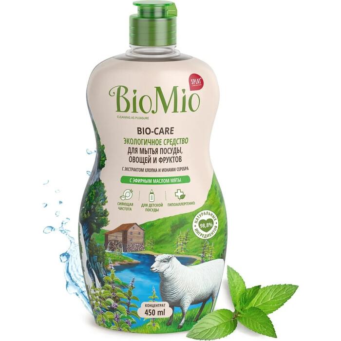 Жидкость для мытья посуды BioMio Bio-Care Мята, 450 мл