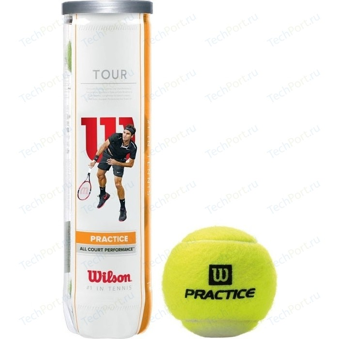 Мяч для большого тенниса Wilson Tour Practice (WRT114500) 4 мяча